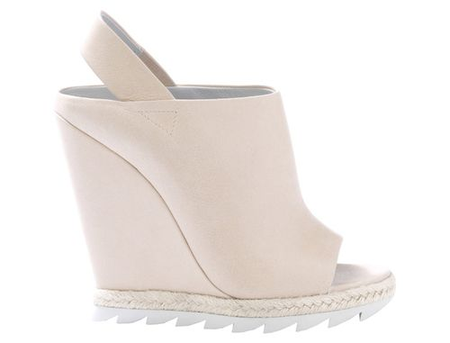 Camilla Skovgaard blush peep toe wedge 360