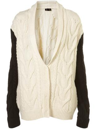 TopShop Colour block knitted shawl cardigan £50
