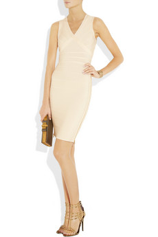 Herve Leger zip embellished bandage dress 1365