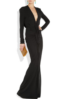 Roland Mouret Compeyson draped jersey crepe gown 1095.2jpg