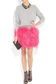 D&G Ostrich feather skirt 1615 1