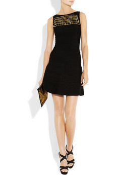 Herve Leger ring embellished bandage dress 2070