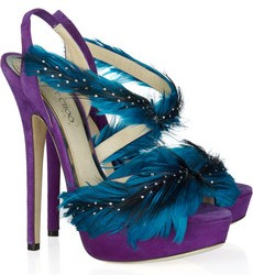 Jimmy Choo Marlene feather & suede sandals 1295