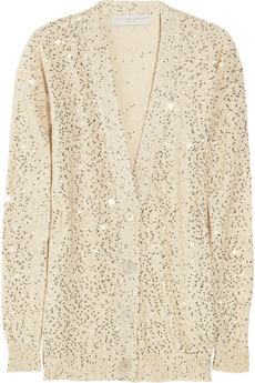 Stella McCartney Sequined Cotton Blend Cardigan 855