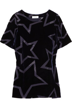 Sonia By Sonia Rykiel Devore Velvet Star Top 245