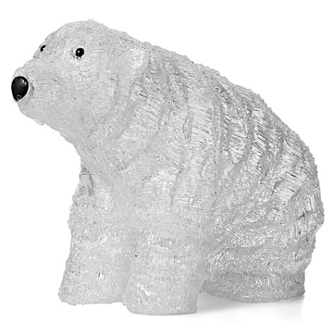 Christmas acrylic polar bear with 200 white led leights 189