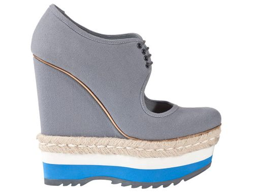 Prada grey canvas wedge 410