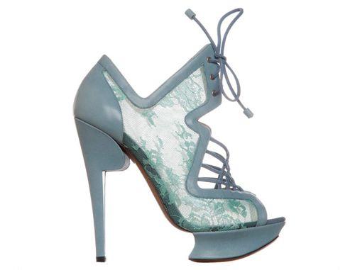 Nicholas Kirkwood blue lace shoe boots 710