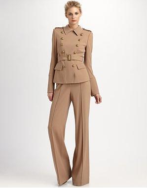 RZ Lauren Military Jacket 341 & Anjelica Woole Crepe Pants 244