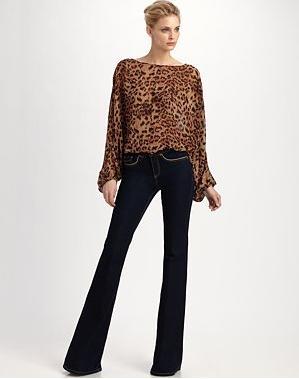 RZ Bianca Printed Dolman Top 126 & Rachel Bootcut Jeans 97