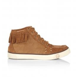 Ugg Chestnut Arianni Lace Up Suede Moccasin Pump £150