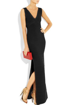 Herve Leger double v neck bandage gown 1740