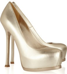 YSL Tribute metallic leather pumps 565