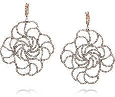 Ileana Makri Lace 18 Karat Rose Gold Diamon Earrings 13,225
