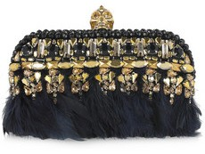 Alexander McQueen Punk Embellished Leather Box Clutch 1585