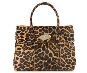 Mulberry Leopard calf hair bayswater bag 2000