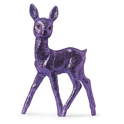 Christmas glitter reindeer ornament lavender 16.95