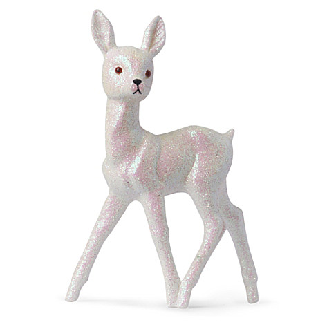Christmas glitter reindeer ornament white 16.95