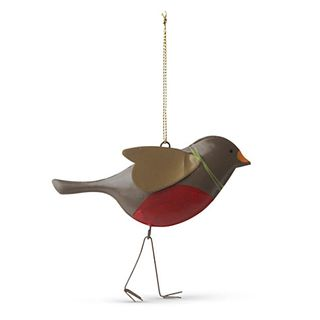 Gisela Graham folk painted tin woodland robin tree dec 5.50