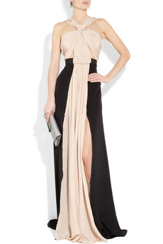 Vionnet Two tone silk crepe de chine gown 2315 3