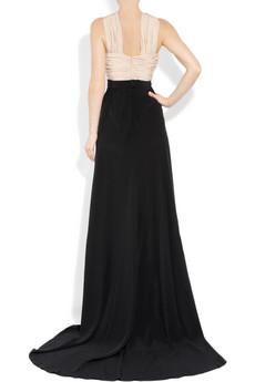 Vionnet Two tone silk crepe de chine gown 2315 2