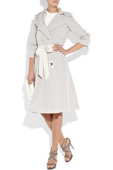 Lanvin Embellished Taffeta Trench Coat 2340