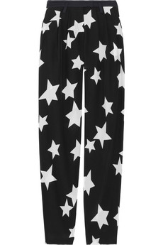 Sonia By Sonia Rykiel Printed Silk Crepe De Chine Pants 275