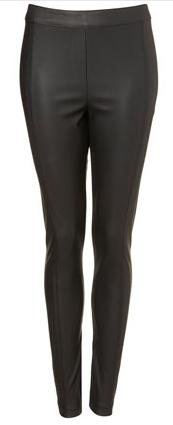 TopShop Black Faux Leather Leggings 32