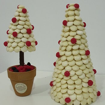 NOTHS White choc pebble xmas cone tree - Sweet tree by rivera 29.99.jpg 2