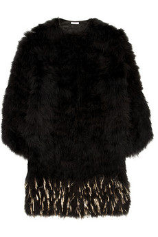 Miu Miu Metallic flecked feather coat 2380