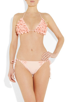 Miu Miu floral applique triangle bikini 250 2