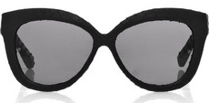 Linda Farrow Luxe Cat Eye Frame Snakeskin Sunglasses £400