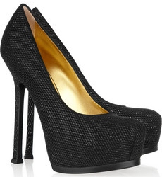 YSL Tribtoo glitter finish suede pumps 550