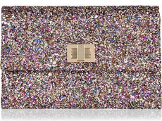 Anya Hindmarch Valorie Glitter Finish Clutch 350