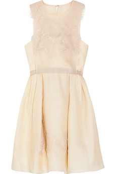Carven Lace and Silk Organza Twill Dress £525