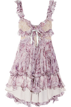 McQueen Ruffled printed silk-chiffon mini dress 5140