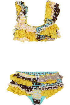 Missoni Hidalgo ruffled crochet-knit bikini 280