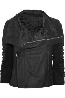 Rick Owens Textured leather biker jacket 1315