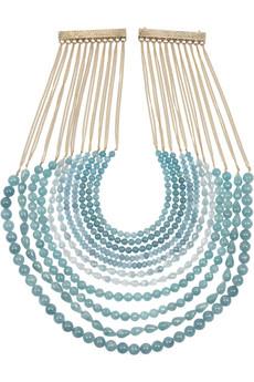 Rosantica Raissa 24-karat Gold-Dipped Angelite Necklace £560