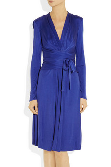 Issa Silk Jersey Wrap Effect Dress £495 2