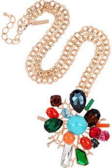 Oscar De La Renta 24 Karat gold plated crystal necklace 530