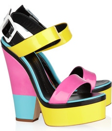 Giuseppe Zanotti Colour block patent leather sandlas 470