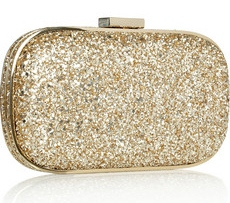 Anya Hindmarch Marano glitter finish box clutch 350
