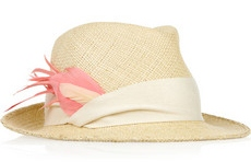 Eugina Kim Max feather embellished straw fedora 245