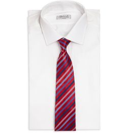 Paul Smith Striped Silk and Cotton Blend Tie 69 2