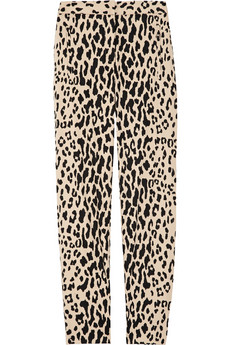 Tibi Printed cotton blend sateen cropped pants 245