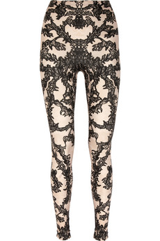 Alexander McQueen Lace Print Stretch Leggings 3375