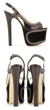 Brian Atwood Moster Suede Platform Sandals 969 12