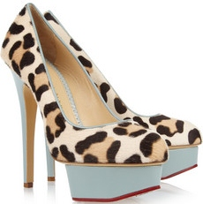 Charlotte Olympia Polly calf hair and leather pumps 740