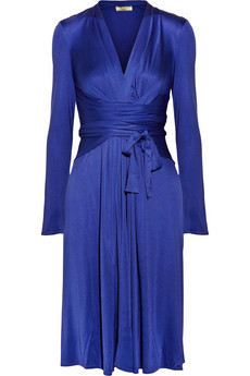 Issa Silk Jersey Wrap Effect Dress £495